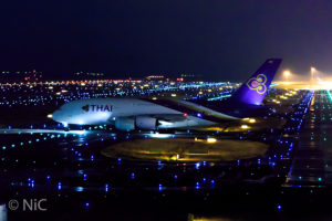 Taxiing of A380 Thai Airways